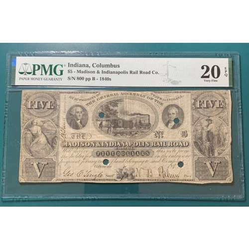 1840's-Columbus, Indiana   Other VF-20