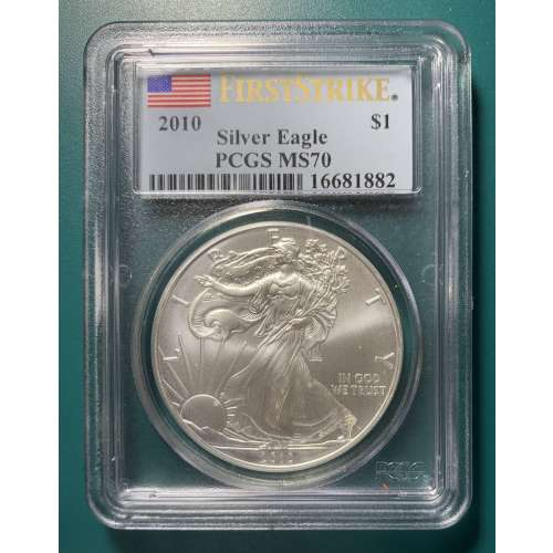 2010 Silver Eagle  First Strike  PCGS MS-70