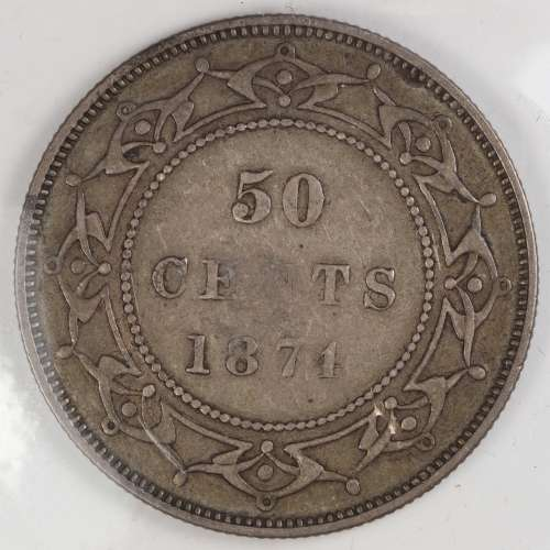 1874  50 Cents  XF-40