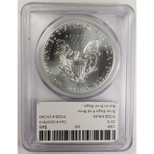 2015 Silver Eagle  First Strike  PCGS MS-69
